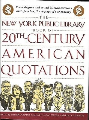 Book of 20th Century American Quotations The New York Public Library