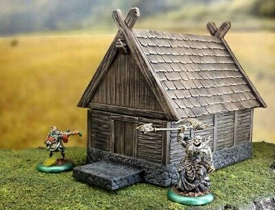 Warhammer fantasy scenery. AoS house. Medieval house.  28 mm scale. Kow.  Lotr