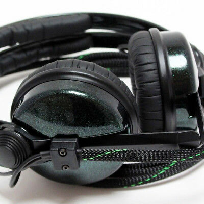 Custom Cans Hot Rod Sparkle Green Gloss HD25 DJ Headphones with 2 yr warranty