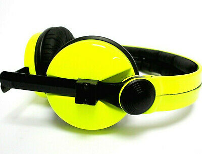 Custom Cans UV reactive neon Yellow Sennheiser HD25 Headphones with 2yr warranty