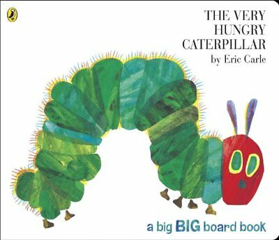 The Very Hungry Caterpillar (Big Board Book) by Eric Carle, NEW Book, FREE & Fas