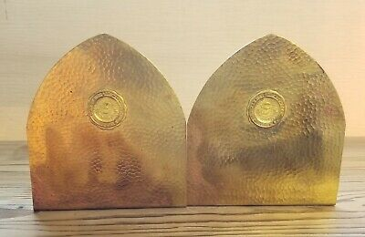 Haller Hammered Copper Bookends Arts & Crafts Ann Arbor Michigan