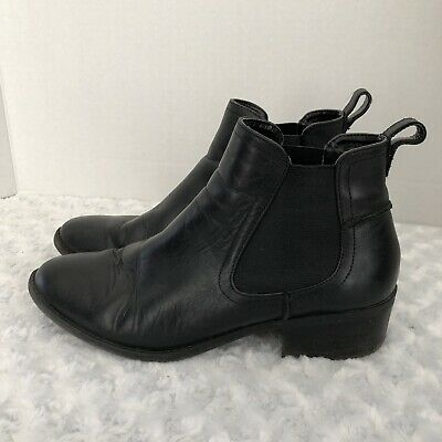 21ad75907b8 STEVE MADDEN WOMENS Dicey Black Leather Fashion Boots Size 8 M