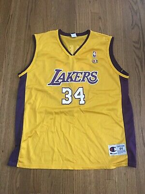 679c0163 Shaquille O'Neal SHAQ Los Angeles LA Lakers #34 Champion Vintage Jersey  LARGE 44
