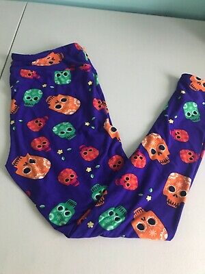 e0642d1dde5ef5 LULAROE WOMEN'S LEGGINGS Sugar Skull Rare Halloween Turquoise One ...