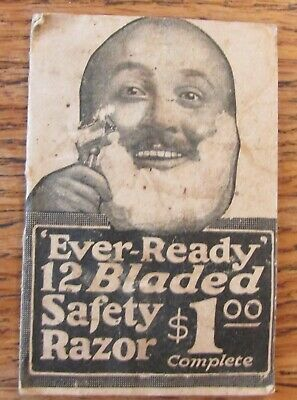 EARLY Ever-Ready 12 BLaded Safety RAzor advertising Booklet 19 pages