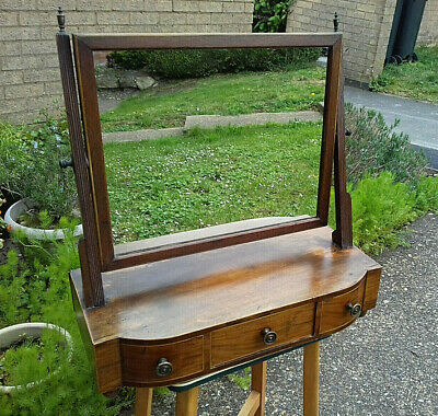 Antique Vintage Large Mahogany Dressing Table Mirror  Reduced for Quick Sale!