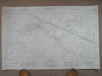 "Ordnance Survey Map, Harrietsham. 1: 2500 / 25"" to the mile. Large scale OS Kent"