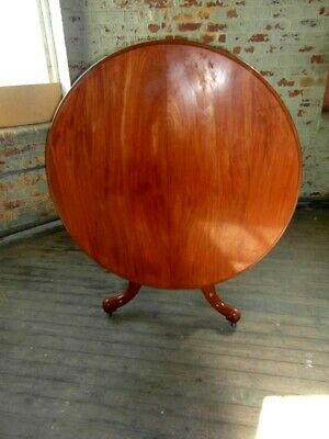Victorian Mahogany Circular Dining / Kitchen Table