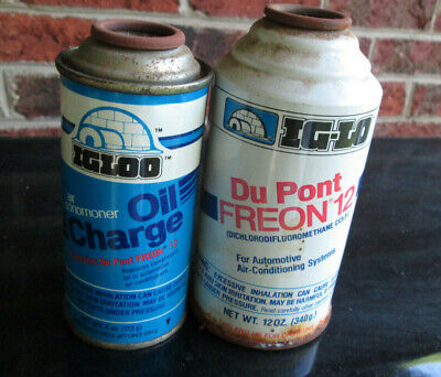 Best Deal 12oz can NOS Ig-Lo Freon R12 and 1 4oz Ig-Lo Oil Charge 4 oz can