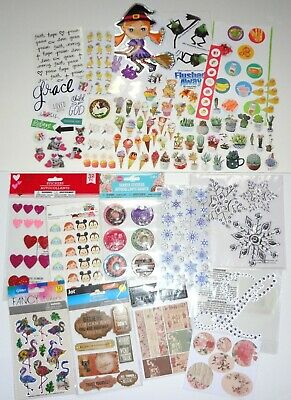 BIG Stickers & Stationery Lot ~ Target Daiso Japan Paper Flakes Holiday Etc!!