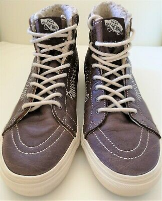Vans SK8 Off The Wall Men's High Top Lace Up Skateboard Leather Shoe Size 8.5