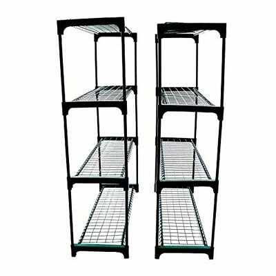 Greenhouse Racking Shelving Plant Flower Staging Display Garage Shed Double Pack