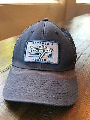 858f692d6adbf RARE PATAGONIA GEODESIC Flying Fish Patch Honolulu LoPro Trucker Hat ...