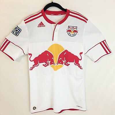 0aaf2553a54 MLS Adidas New York Red Bull Henry #14 Mens Small White Football Soccer  Jersey
