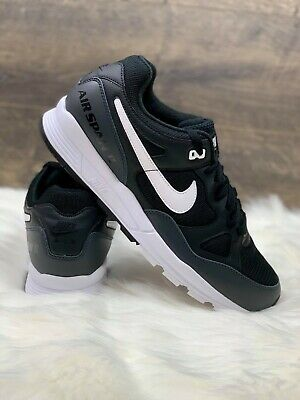 new styles cc0c7 556f6 New Nike Air Span II 2 Sneakers Running Shoes Size 10 Black White AH8047-