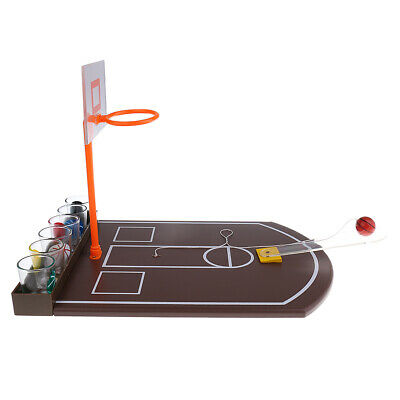 Shot Glass Drinking Game Mini Tabletop Basketball for Kids Family Xmas Toys