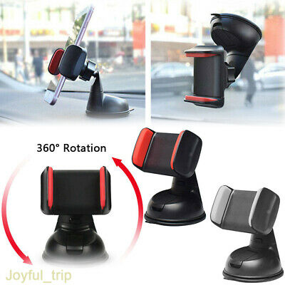 Car Mobile Phone Holder Universal Mount Windscreen Dashboard Various Colours UK
