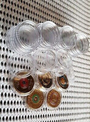 2$ Australian Clear Coin Capsules × 20. Suits Two Dollar Australian Coins. 21mm.