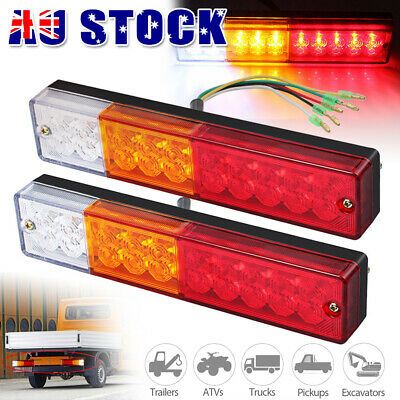 10-30V 2x TRAILER LIGHTS 20 LED STOP TAIL INDICATOR REFLECTOR TRUCK CAMPER LIGHT