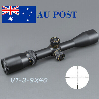 Tactical VT3-9x40 Scope Mil-Dot Sight Scope Optic Reticle Airsoft Hunting Black