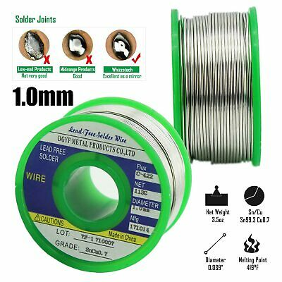 Lead Free 1 MM Solder Wire Sn99.3 Cu0.7 Rosin Core for Electronic Soldering 100g