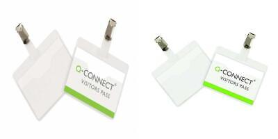 Pack of 25 Q-Connect KF01560 Visitor Badge 60x90mm