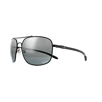 bb9717b7f Ray-Ban Sunglasses RB8322CH 002/5L Black Blue Mirror Grey Gradient Polarized