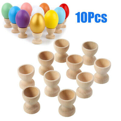 10Pcs Egg Cup Wooden Storage Holders Portable for Kitchen Restaurant Hotel Party