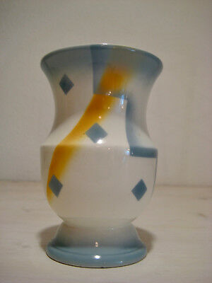 Art Deco Vase Rösler Spritzdekor German Ceramic Weimarer Republic