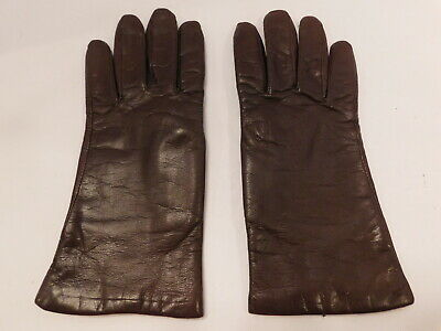 Fownes Ladies Brown Leather Winter Gloves Polyester Lining  Size Xl