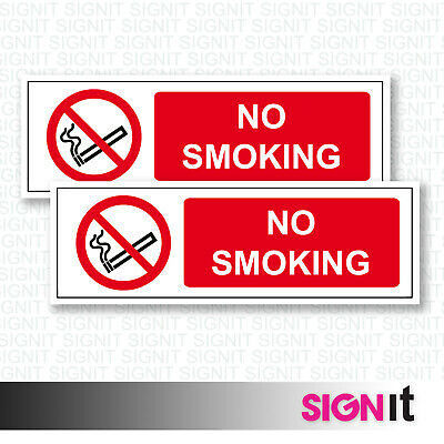 No Smoking - No Smoking Sign Vinyl Sticker (50mm x 150mm)