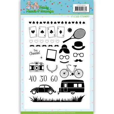 Find It Trading Yvonne Creations Clear Stamps-funky Nanna's