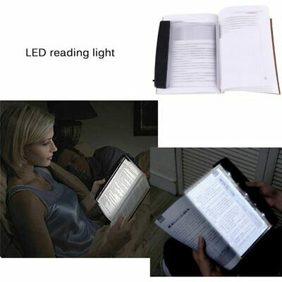 1* LED Light Wedge Eyes Protect Panel Book Reading Lamp Paperback Night Vision