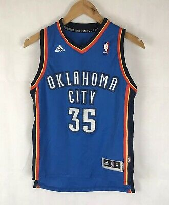 new product 876db e58e8 AUTHENTIC ADIDAS OKLAHOMA City Thunder Kevin Durant 35 Jersey OKC NBA Med  Youth