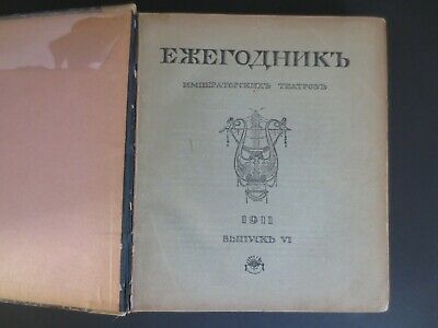 1911 Russia Imperial Theatres Yearbook Driezen Repertoires Reviews St Petersburg
