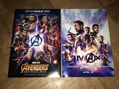 Marvel's Avengers IMAX Infinity War and Endgame Posters Free Shipping