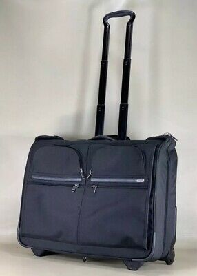 Used Tumi 22030D4 Black Ballistic Nylon Wheeled Rolling Garment Bag Luggage