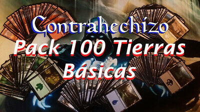 Mtg - Magic The Gathering - Pack 100 Tierras Basicas