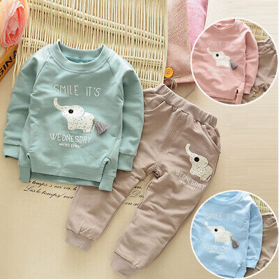 Outfits Autumn Animal Print Boys' Newborn Toddler Baby Infant Kids Long Sleeve