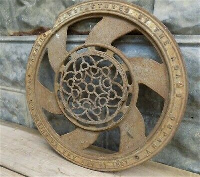 Cast Iron Round Stove Pipe Collar, Chimney Flue Cover, Ornate Grate Heat Ring g,