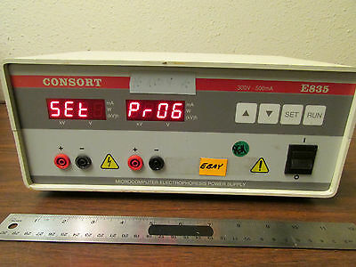 Consort E835 Microcomputer Electrophoresis Power Supply Powers Up
