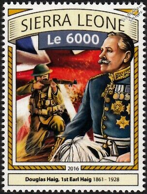 WWI BATTLE OF THE SOMME British Army Field Marshal DOUGLAS HAIG & Soldier Stamp