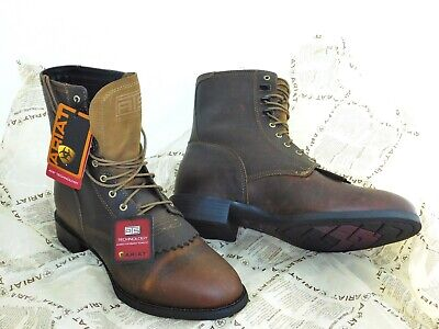 a33dd436cbb ARIAT MENS HERITAGE Lace Up Roper Cowboy Boot Lacer 12 EE NEW 10001988 32525