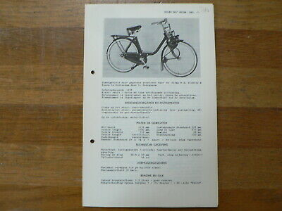 Solex  Rijwiel 1958 Onwards Service And Repair Guide Bromfiets Moped Mofa