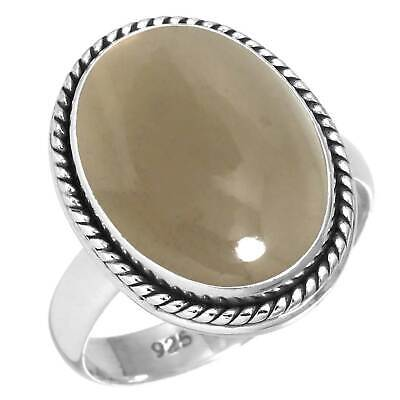 Natural Smoky Topaz Ring 925 Sterling Silver Handmade Jewelry Size 7 WA61514