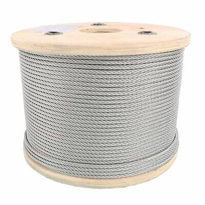 "1/8"" Stainless Steel Aircraft Cable Wire Rope 7x7 Type 304"