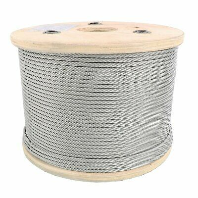 "1/8"" Stainless Steel Aircraft Cable Wire Rope 7x19 Type 304"