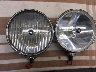 Original LUCAS SFT 700S SPOTLIGHT PAIR for MG Jaguar Healey Mini Sprite Triumph
