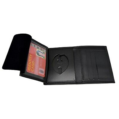 Police Badge Wallet Smith Warren S24X Detective Black Leather Bi Fold